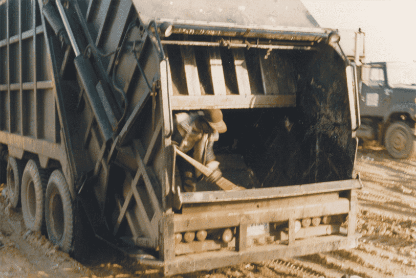 municipal solid waste; Cleaning trucks out