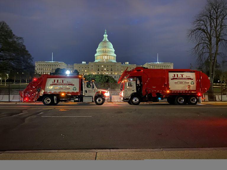 WMATA; Front load and rear load trucks at the capital in Washington DC