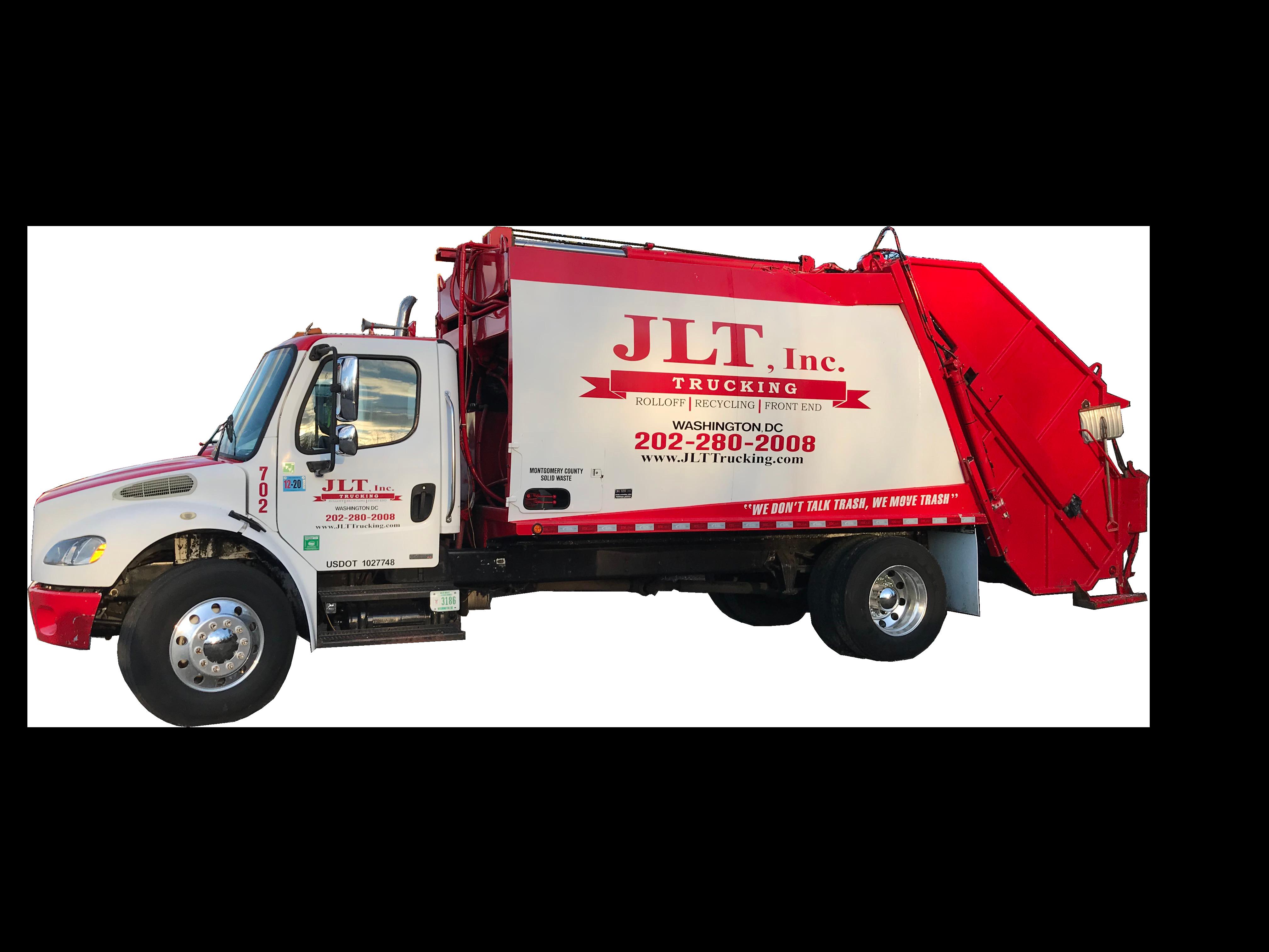 link for waste services; Transparent Rear Load Truck