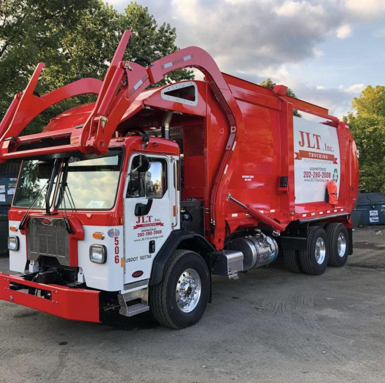 front load trucks; Clean and maintained trucks.